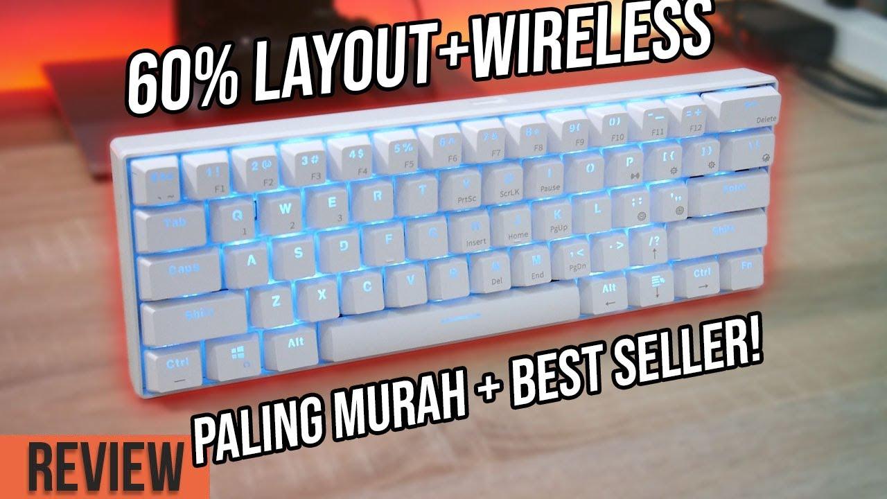 60 Mechanical Gaming Keyboard Wireless Paling Murah Review Royal Klugde Rk61 Youtube