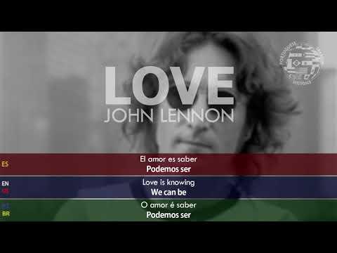 Jonh Lennon - Love SUBTITULADA Inglés Español Portugués