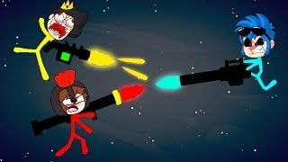 ¡LOS COMPAS ME TRAICIONAN en STICK FIGHT! 😱🔫 ELTROLLINO STICK FIGHT
