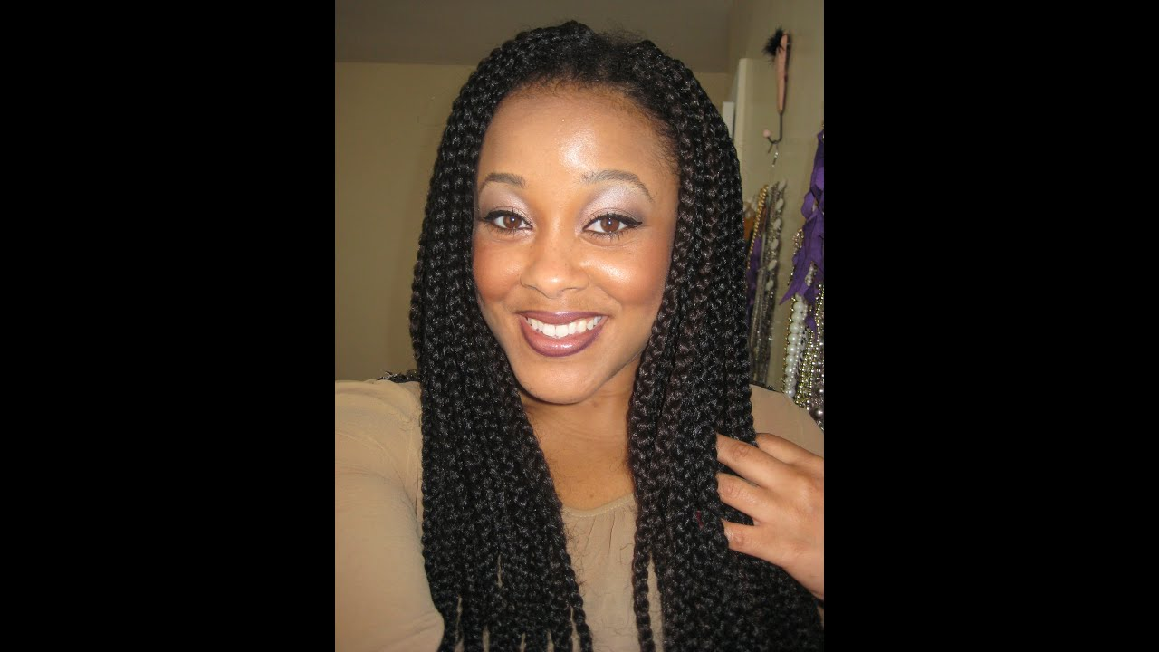 How To Do Crochet Box Braids Small : month update Crochet Box Braids - YouTube