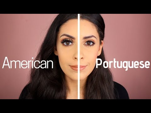 American VS Portuguese Makeup Tutorial