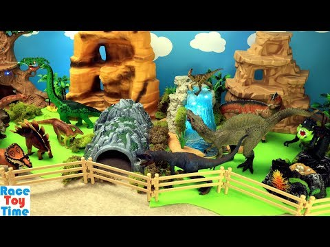Toy Dinosaurs Zoo Jurassic World Adventure and Learn Dino Names Video For Kids