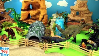 Toy Dinosaurs Zoo and Learn Dino Names Video For Kids