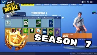 PLAYING THE SEASON 7 FORTNITE-BUYING THE BATTLE PASS