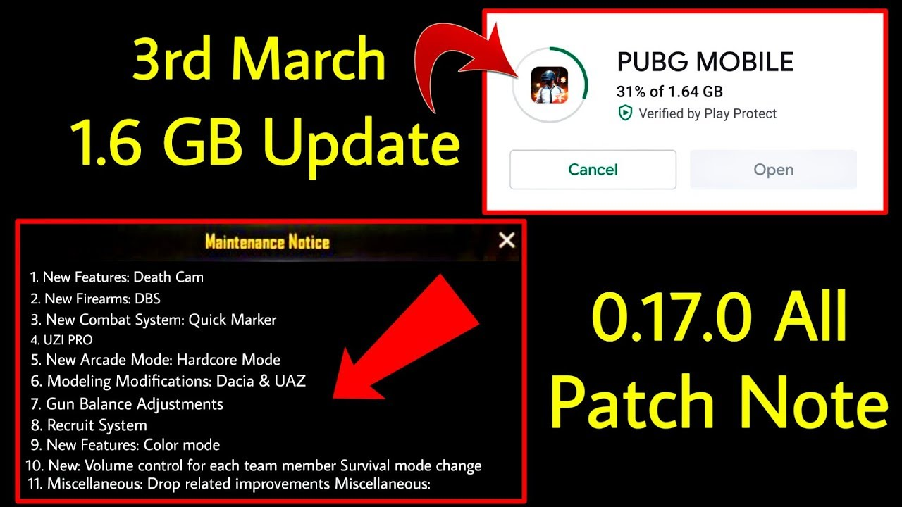 Pubg Mobile UC March 2020 -PUBG Mobile Big Update 0.17.0 Coming on 3rd March || Big Size Update PUBG