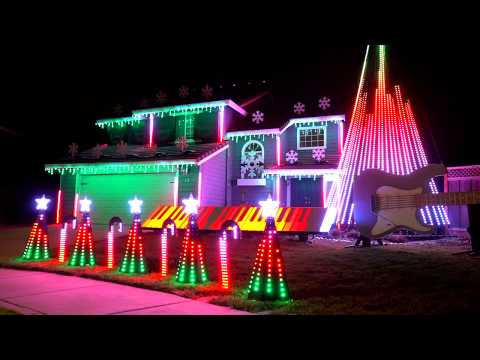EPIC Metal Carol of the Bells Christmas Light Show! (Dec 2017)