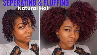 separate fluff for volume   twist out take down on natural hair ft rapunzel the future of hair