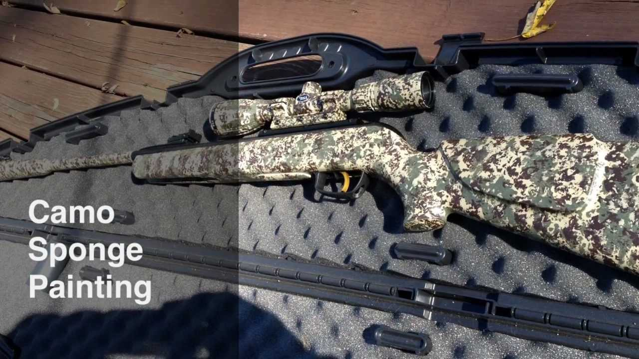 Simplest How To: Camo Paint ANY Gun with Sponge - Full HD - YouTube