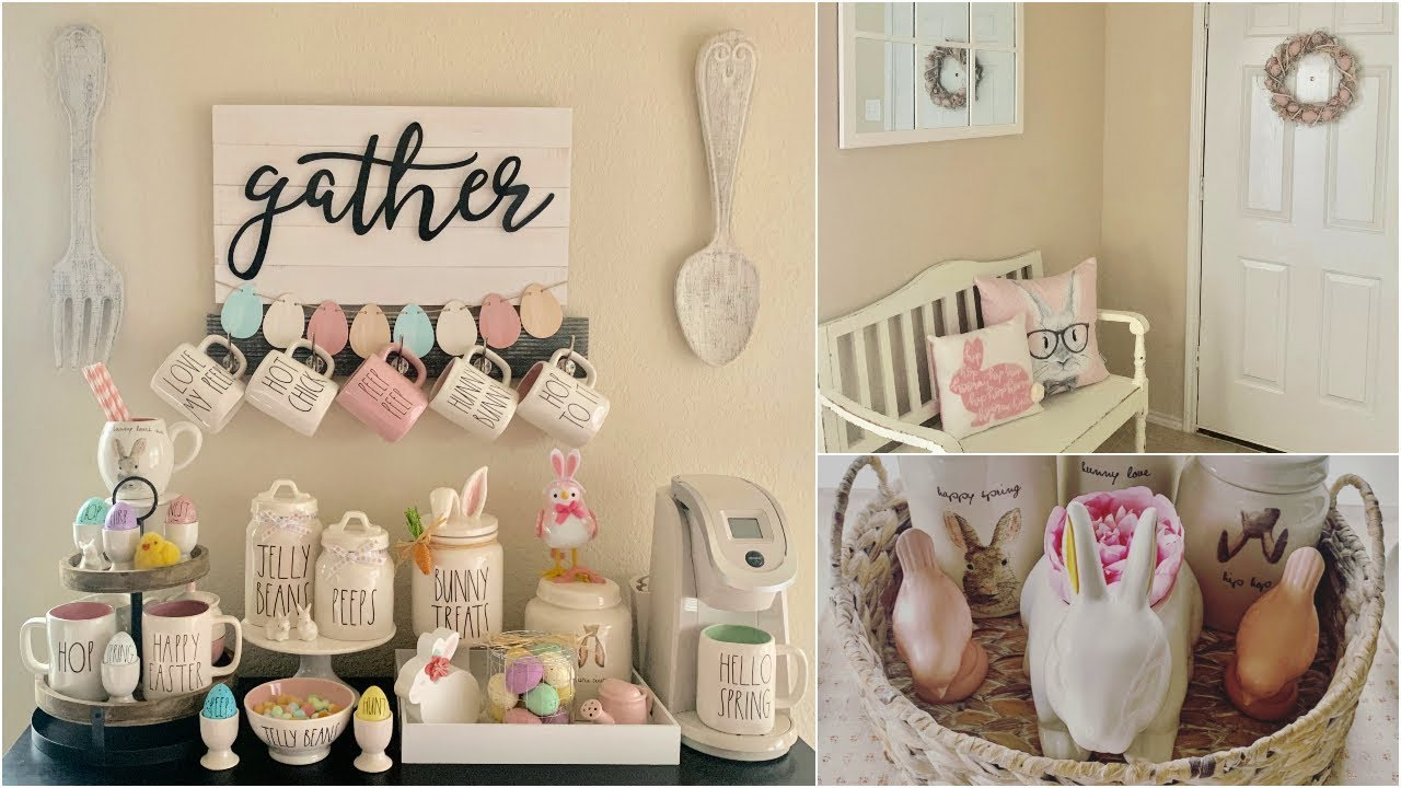Easter Decor Tour 2019 Rae Dunn Easter Collection Youtube