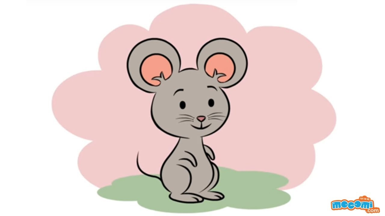 How To Draw A Cartoon Mouse Learn Step By Step Drawing For Kids