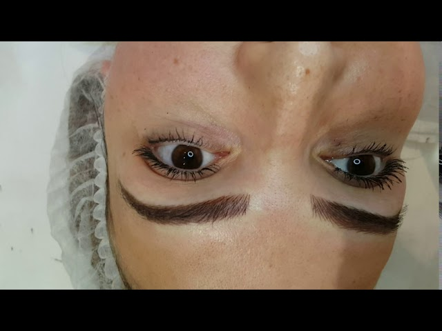 Microblading Correction over old tattoo by El Truchan @ Perfect Definition