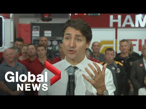 Canada Election: Justin Trudeau Shares Remarks In Hamilton, Ont.