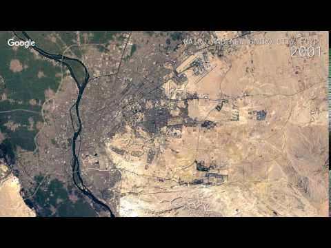 Google Timelapse: Cairo and New Cairo City, Egypt