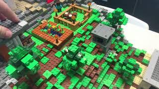 Обзор постройки по Лего Майнкрафт - Поселение Стива