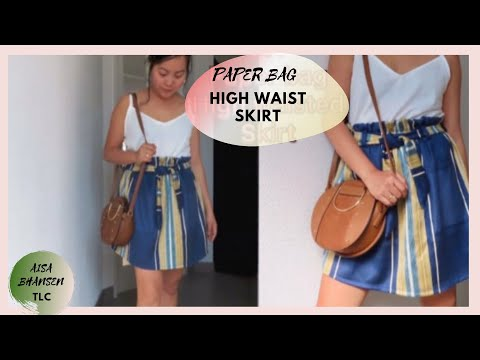 HOW TO MAKE PAPER BAG SKIRT AND STYLE  (tagalog)//CRAFTY MODE