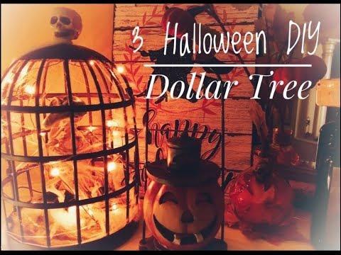 3 HALLOWEEN DIYs | Dollar Tree & Store