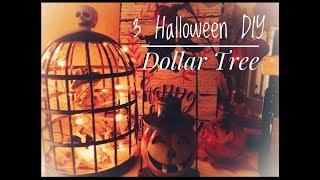 3 HALLOWEEN DIYs | Dollar Tree & Store | Home Decor