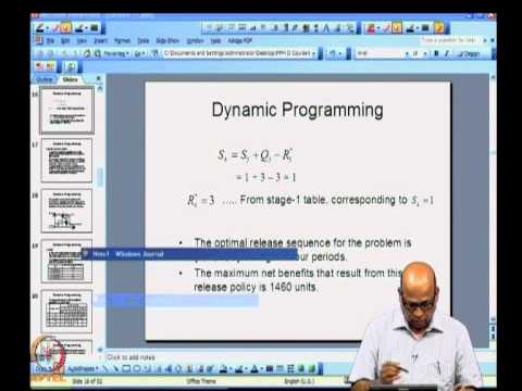 Mod-03 Lec-17 Dynamic Programming: Capacity expansion and shortest route problems