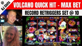 7 QUICK HITS! Never B4 Seen 10 RETRIGGERS - INSANITY - Volcano Quick Hit