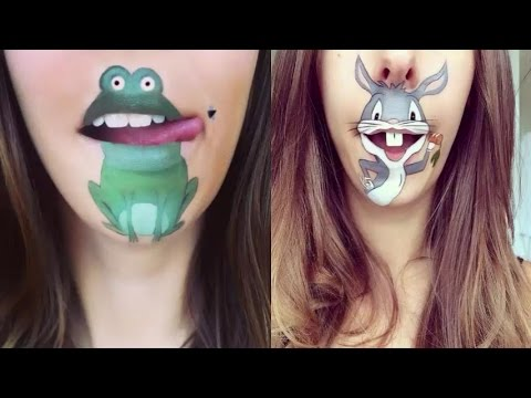Cute Amazing Cartoon Makeup For Lips By Laura Jenkinson YouTube - Laura jenkinson mouth painting