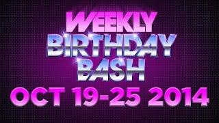 Celebrity Actor Birthdays - October 19-25, 2014 HD