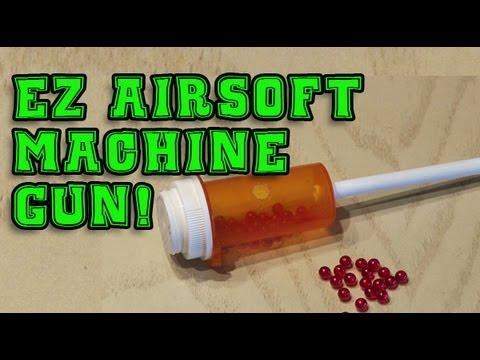 EZ Airsoft Machine Gun! - YouTube