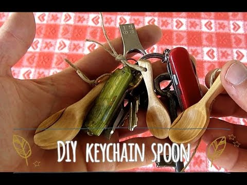 How to carve mini Keychain Wooden Spoon