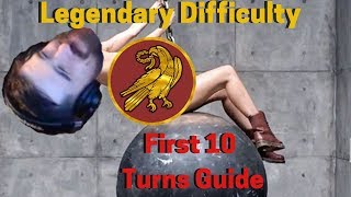 Western Roman Empire Legendary First 10 Turn Guide for Total War: Attila