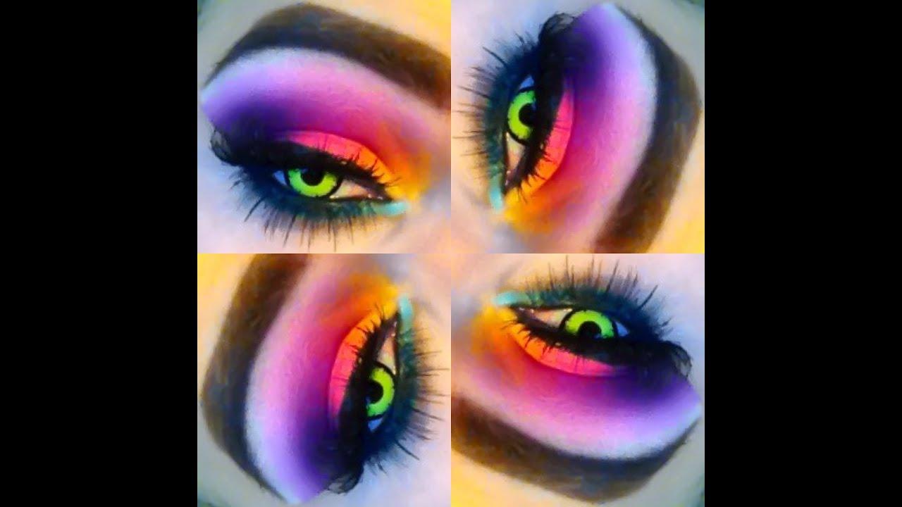 Neon Rave Makeup Kakaozzank