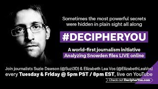 Decipher You: Episode 32 Analysing the Snowden SID Today Files Batch 5