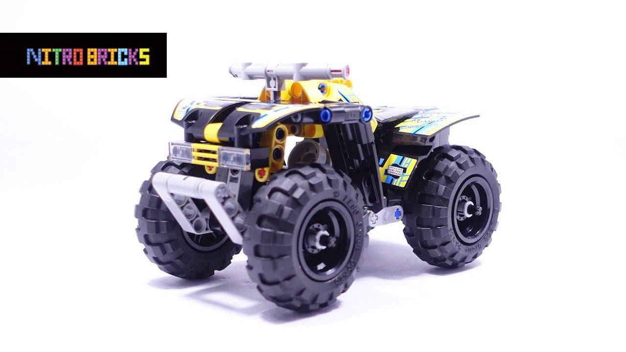 lego technic quad bike 42034 lego speed build youtube. Black Bedroom Furniture Sets. Home Design Ideas