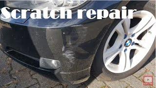 Bmw E90: front bumper repaired