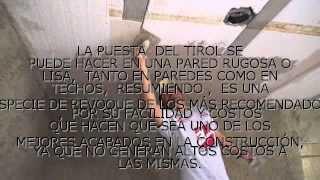 TIROL RUSTICO Y PLANCHADO
