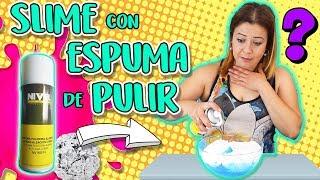 SLIME con ESPUMA de pulir ALUMINIO | Experimentos caseros con slime | Polishing foam slime thumbnail