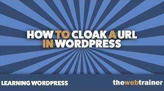 How To Cloak A URL In WordPress