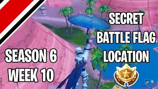 Fortnite Season 6 Week 10 Secret Battle Flag/Battlestar Location (Hunting Party Challenges)
