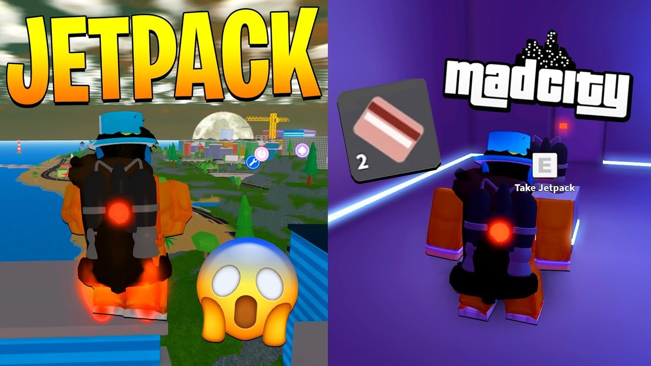 How To Get The Jetpack In Mad City For Free Roblox Youtube