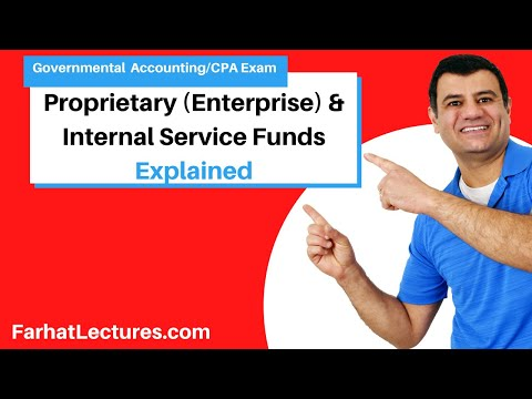 Propriety funds:   enterprise funds, internal service funds FAR CPA exam governmental course