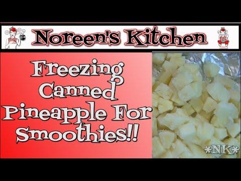 Freezing Canned Pinele For Smoothies