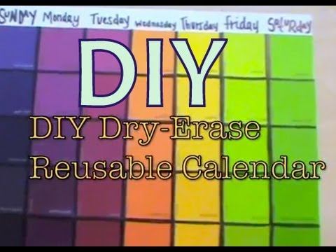 Diy dry erase calendar board youtube diy dry erase calendar board solutioingenieria Image collections