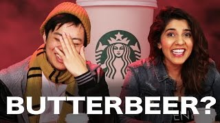 """Harry Potter Fans And Haters Review Starbucks """"Butterbeer"""""""