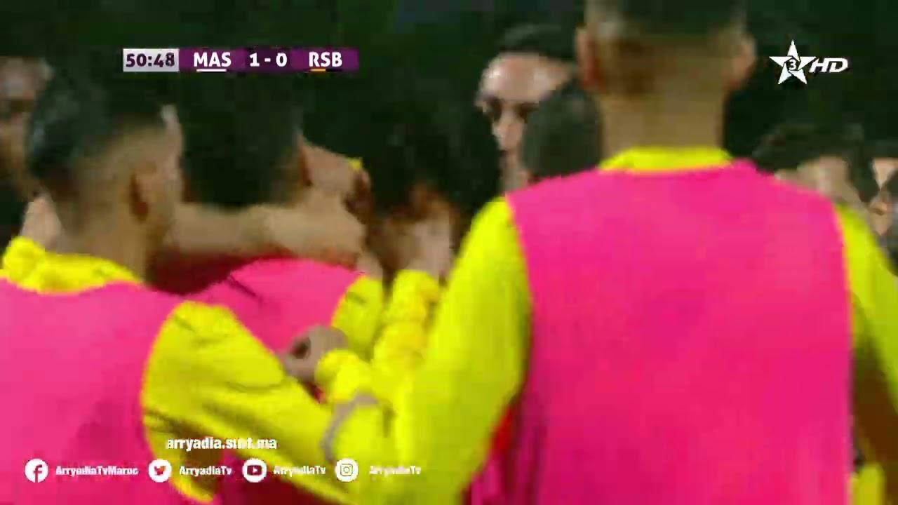 المغرب الفاسي 1-0 نهضة بركان هدف إسماعيل بنقطيب في الدقيقة 51.