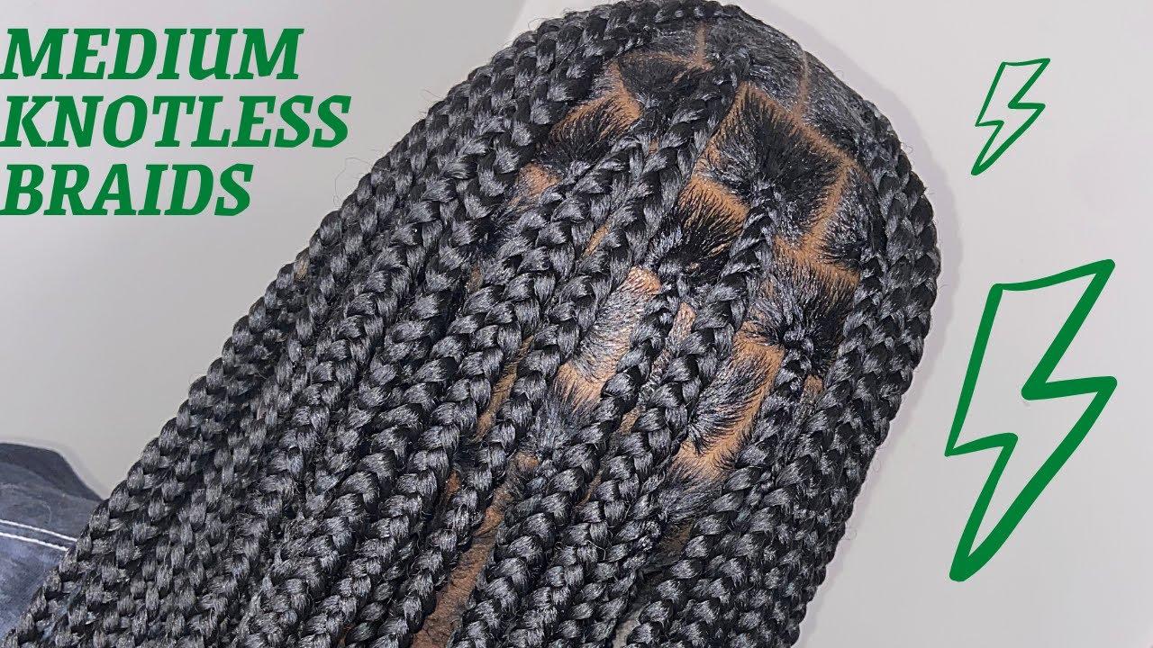 Medium Knotless Braids  3 inches