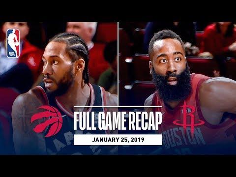Full Game Recap: Raptors Vs Rockets | Kawhi & Harden Duel In Houston