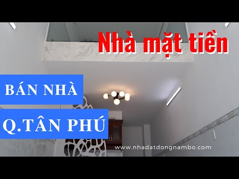 Chính CHủ Bán Nhà Quận Tân Phú Dưới 5 Tỷ, Mặt Tiền Đường Nguyễn Thái Học