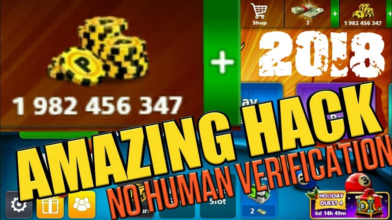 8 Ball Pool Generator App 8 ball pool hack 2018 latest version - no human verification , no root
