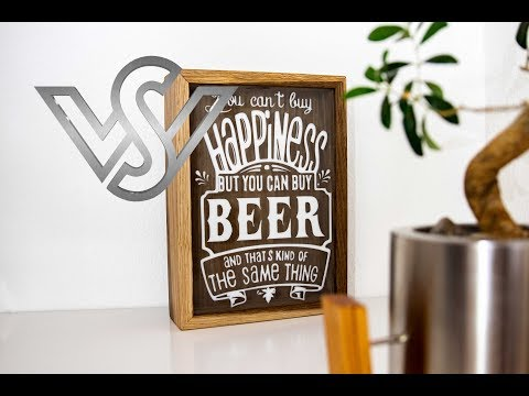 How to make a Beer Cap Shadow Box