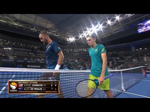 Johnson vs De Minaur Match Highlights (R1) | Brisbane International 2018
