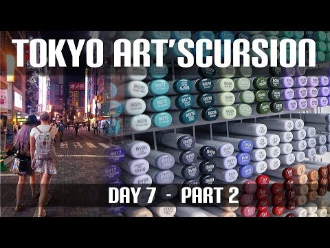 Japanese Illustration Books & MOAR Copics! (Tokyo Art'scursion Day 7, Part 2)