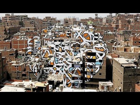 Graffiti art gives a fresh face to Cairo's impoverished neighbourhood